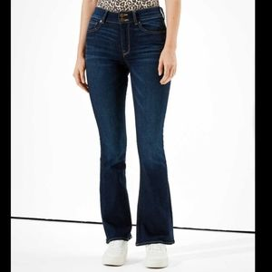 American Eagle Super High Rise Flare Jeans 90s 00s Y2K Stretchy